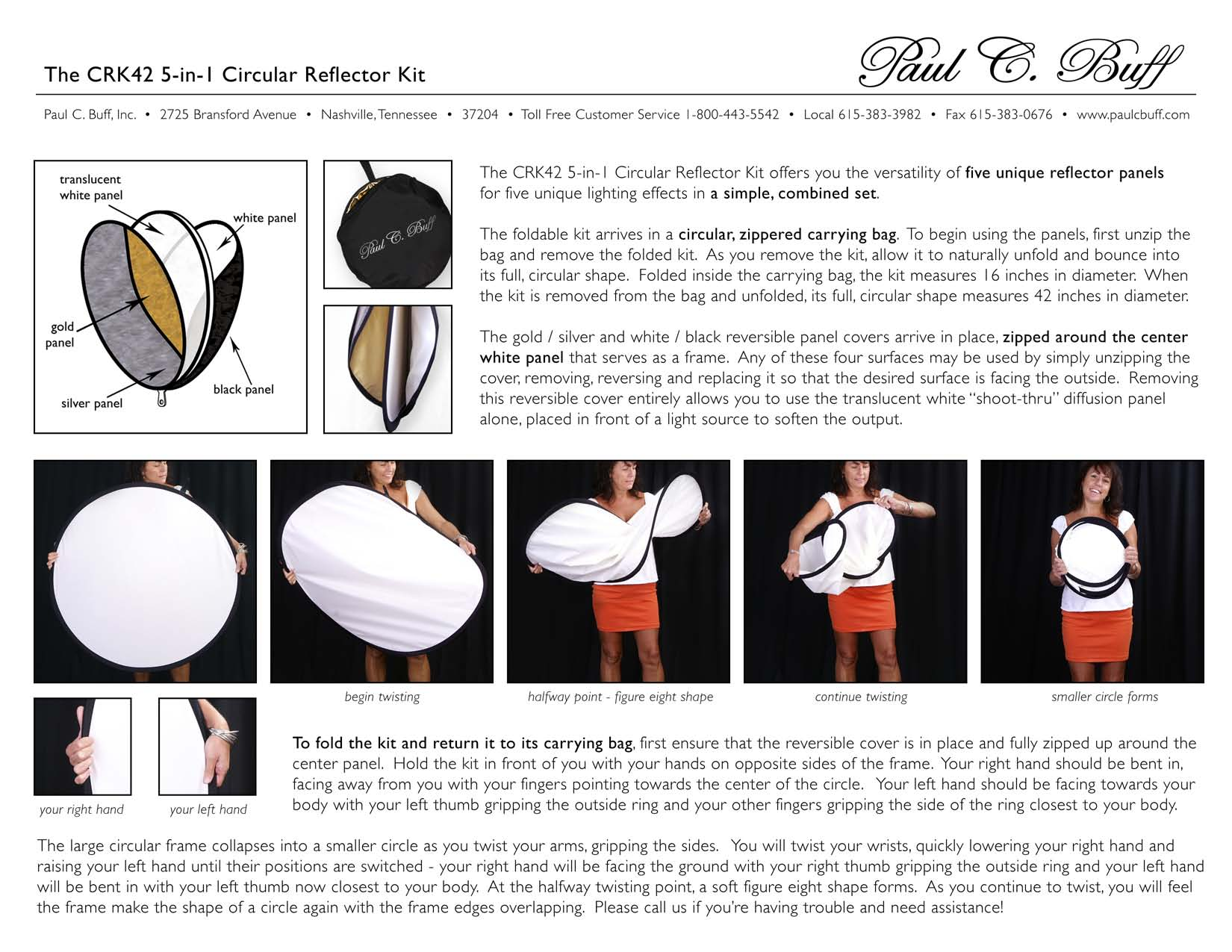 5-in-1 Reflector Kit Instructions