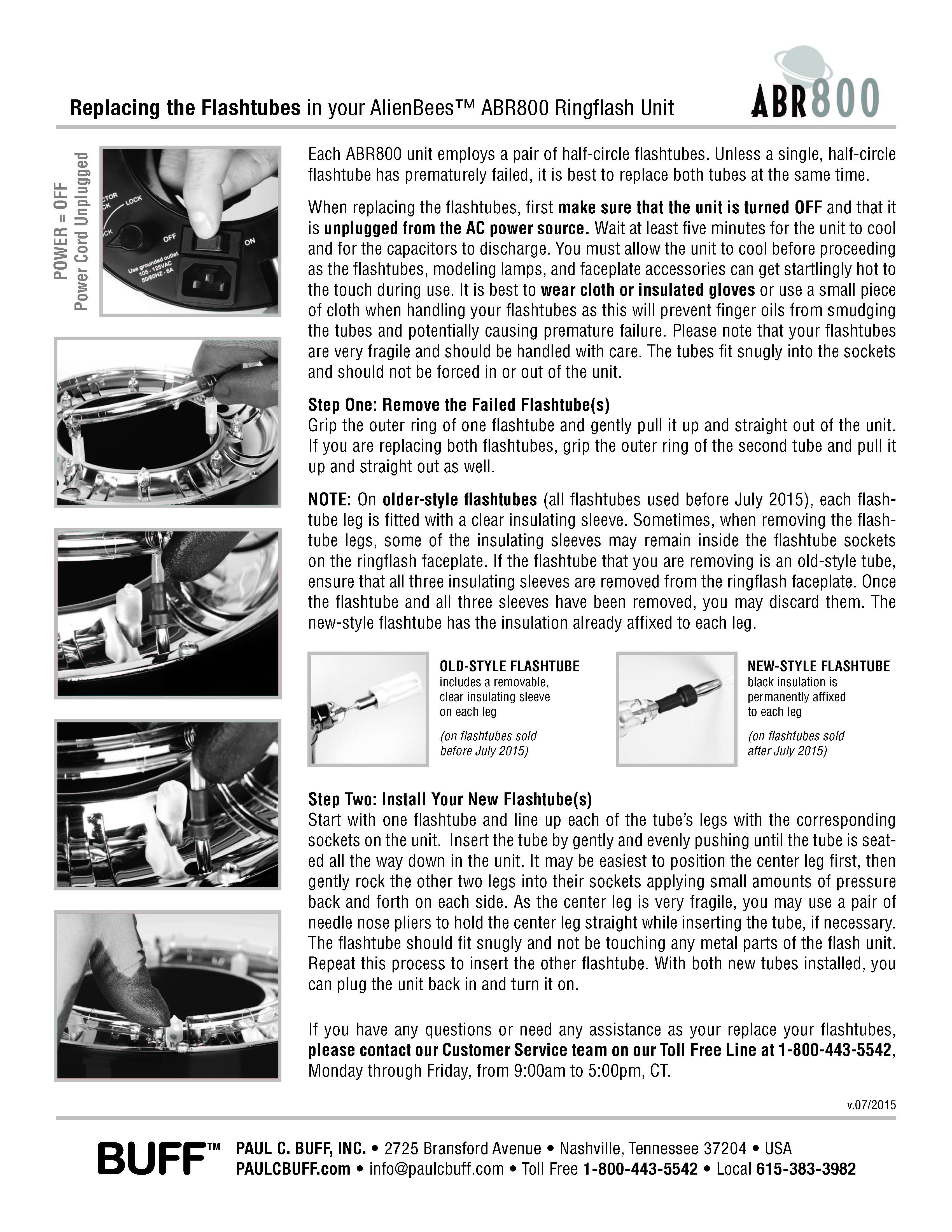 AlienBees Ringflash Flashtube Replacement Instructions